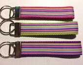 Bright Stripes Wristlet Keyfob