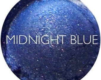 Midnight Blue Mineral Eyeshadow • Natural Vegan & Gluten Free Makeup • Mineral Makeup
