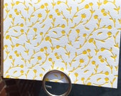 Letterpress Note Card Set - PA Dutch Note Cards - YELLOW (set of 6)