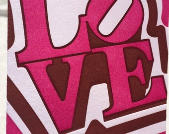 Valentines Day - Letterpress Greeting Card - Philly Love - PA HERITAGE COLLECTION (single)