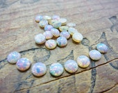 Fire Opal Glass Cabochon 5mm Small (8)