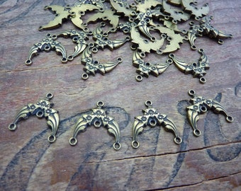 Brass Filigree Ornate Stamping Link Chandelier Link Earring Component (4)