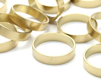 Brass Band Ring - 24 Raw Brass Ring Settings (16mm) Bs-1133--r008