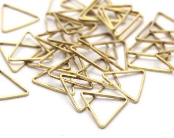 11mm Brass Triangles, 100 Raw Brass Triangles (11x11x11mm) Bs-1164