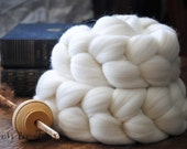 Domestic Merino Natural Ecru Undyed Combed Top Wool Roving Spinning Felting fiber