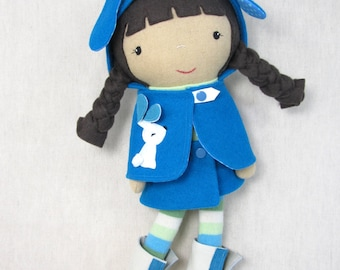 Handcrafted Studio Doll Large - Lotti. Handmade, Doll, Eco Friendly, Plush, Toy, Children,  Gift