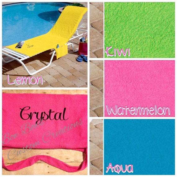 Over The Chair Beach Towel With Side Pocket By