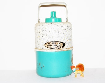 Vintage Holiday Thermos Cooler Jug