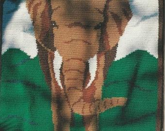 Vintage Elephant Afghan Crochet Pattern