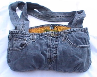 American Eagle Upcycled Jeans Purse - Recycled Denim Handbag with cotton lining