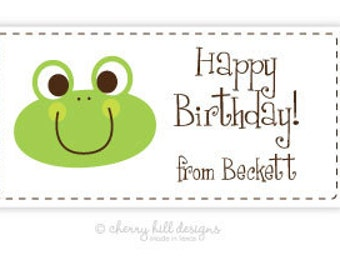 "Froggie Gift Tag - set of 24 4"" x 2"""
