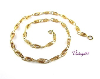 Vintage Necklace Choker Gold Filled