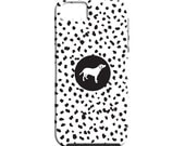 Dalmatian Spot Smart Phone Case  - Dog Silhouette -  Custom Phone Case - iPhone - Samsung Galaxy - Dog Breed - You Design