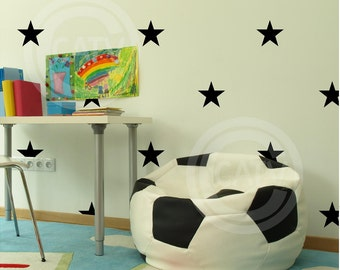 "Set of 20 Stars 5"" YOU CHOOSE COLORS vinyl lettering wall decal stickers self adhesive kids room decor"