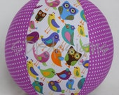 Balloon Ball - Cheep Cheep Country Chic - Birds Owls Flowers and polka dots - Great Stocking Stuffer toy or Birthday Party Gift
