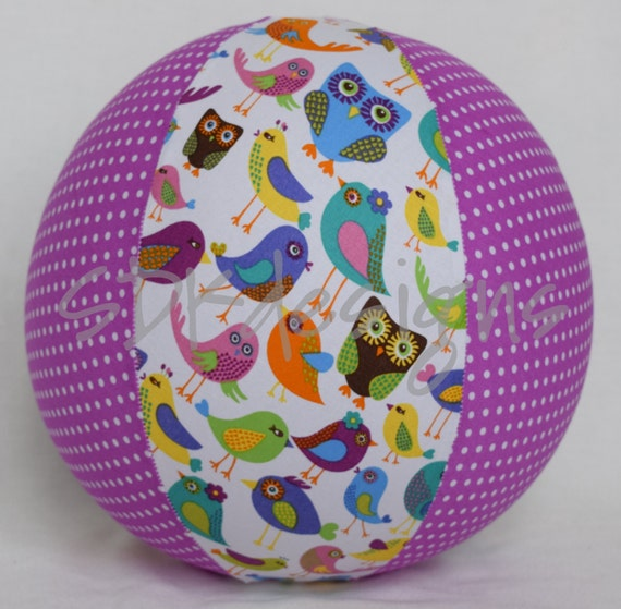 Balloon Ball - Cheep Cheep Country Chic - Birds Owls Flowers and polka dots - Great toy or Birthday Party Gift