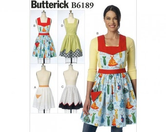 APRON SEWING PATTERN / Make Full and Half Aprons / Sizes Small - Medium - Large
