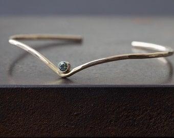 Peak Cuff Bracelet- Sapphire