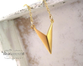 Chevron Necklace . Gold Layering Necklace . Layering Necklace . Brag About It