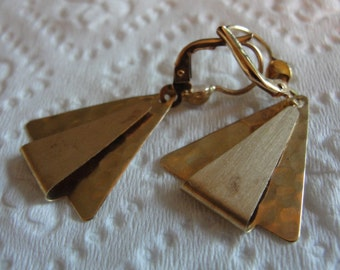 Vintage 14k gold earrings  from Terry and Amanda design studio.