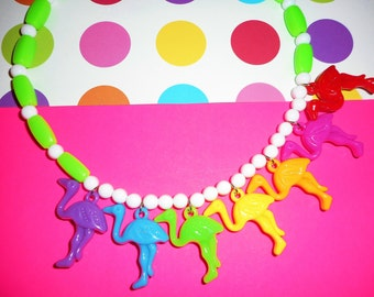 Rainbow Ostriches Necklace