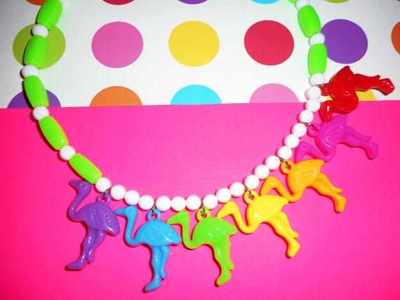 Rainbow Ostriches Necklace