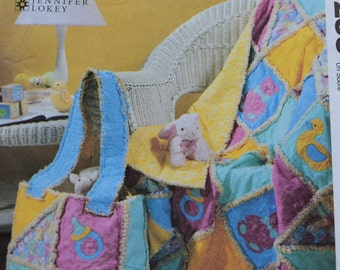 McCalls Crafts 4255 Rag Quilt and Diaper Bag for Baby  (uncut)