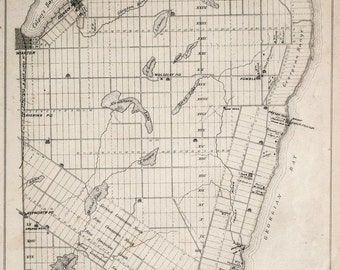 1880 Antique Map of Sarawak and Keppel Townships, Ontario - Grey County -  Georgian Bluffs
