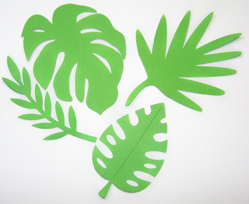 Tropical Leaf Template Tropical Scrapbook Paper Leaves - tropical leaf ...