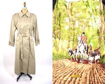 1980s coat vintage 80s khaki Tiger Fox classic trench coat