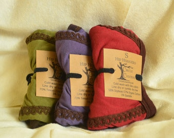 Women's Hip Huggers 3 pair package deal/Stretchy Soy  Organic Cotton or Stretchy Tencel Organic cotton