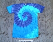 The Blues Spiral Tie Dye T-Shirt (American Apparel Sustainable Edition, Size M) (One of a Kind)