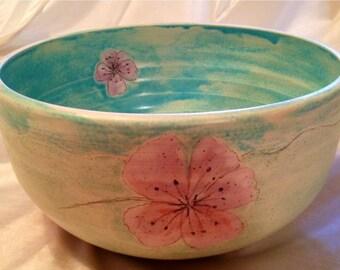 Cherry blossom ceramic bowl