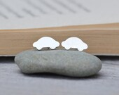 small car ear studs in sterling silver, vehicle handmade in England