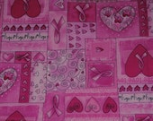 Fat Quarter HTF Breast Cancer Awareness Fabric