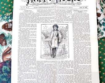 Happy Hours  A Weekly Paper for Young Folks Vol. 14 No. 8 Feb. 19, 1899 Publishing Poetry, Stories, Moral Values  and Disciplinship