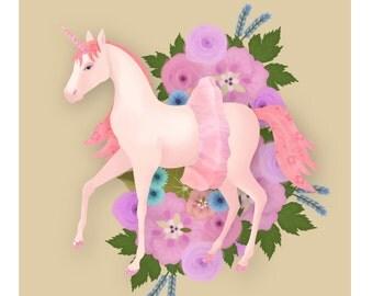 Illustration Art Print- Field Guide to Unicorns: Tutunicorn
