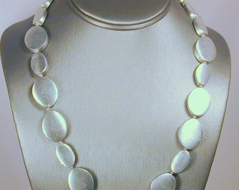 Bold Brushed aluminum in bold necklace