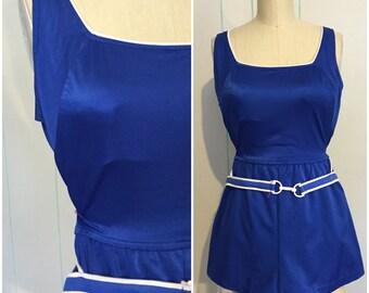 60s Blue Cole Bathing Suit