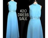 SALE! Vintage 60s Sky's The Limit Maxi Dress