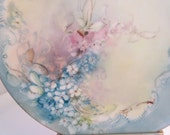 Vintage JP France Hand Painted Plate Forget Me Nots 7 Inch Dreamy Beautiful