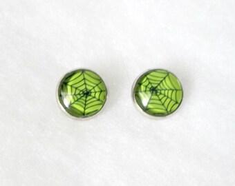 Spiderweb 12mm Stud Earrings