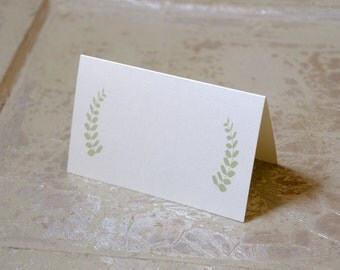 Fern Design Tented Place Cards - Personalized or Blank
