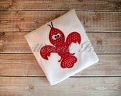 Crawfish Fleur de Lis Applique Personalized T-shirt for Girls or Boys