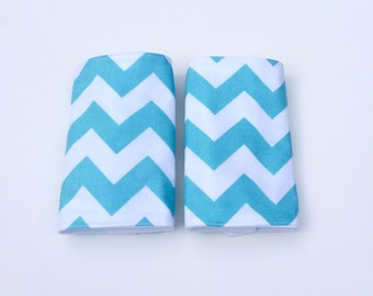 Drool Pads, Suck Pads, Teething Pads, Ergo, Tula, Beco, Boba, Mei Tai, Waterproof, Absorbent Cotton, Carrier Straps, Modern, Blue Chevron