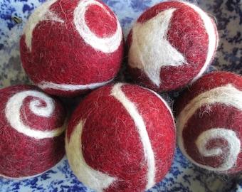 Stars & Swirls Felted Wool Balls