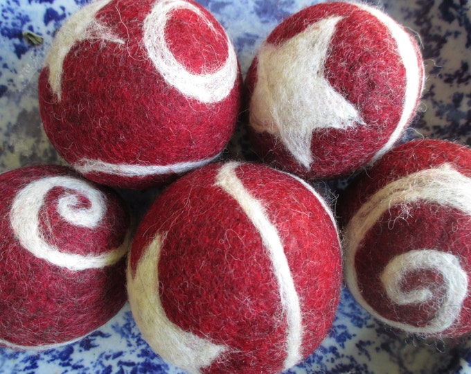Stars & Swirls Felted Wool Balls