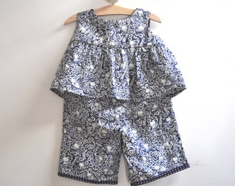 Girl's Summer Playsuit -  Liberty of London Tana Lawn - Age 3 - 6 Months