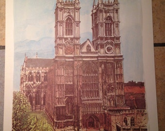 Westminster Abbey Antique Illustration