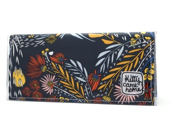 Bi-fold Clutch - Morning Walk - floral fabric
